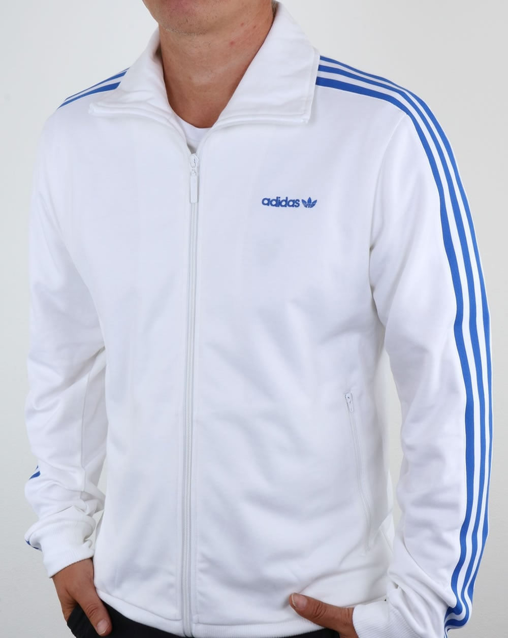 Adidas Originals Beckenbauer Track Top White Blue 18ae9ecebe