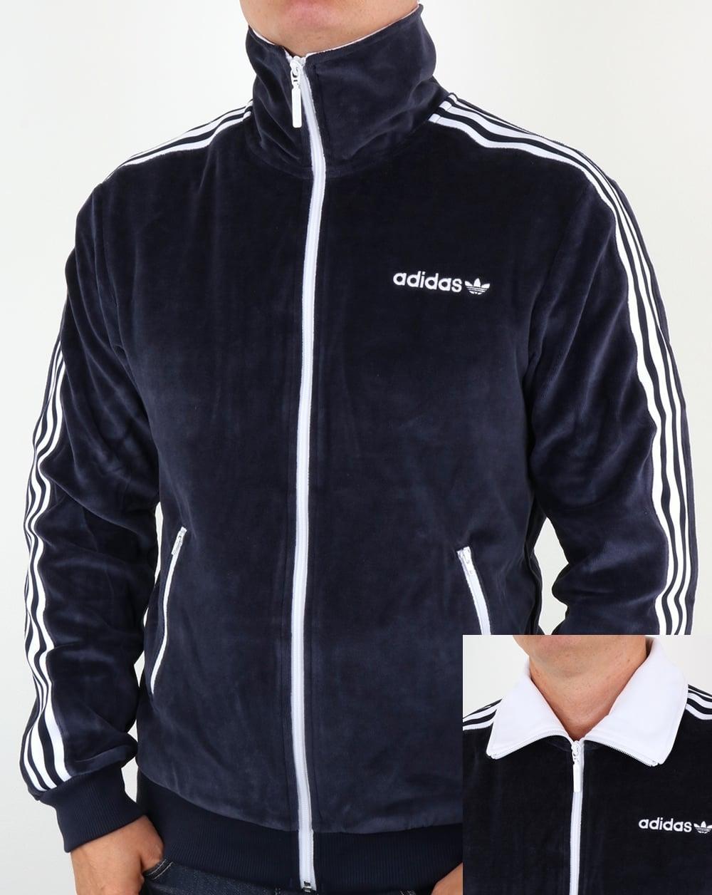 Adidas Originals Os Velour Beckenbauer Track Top Navy Blue