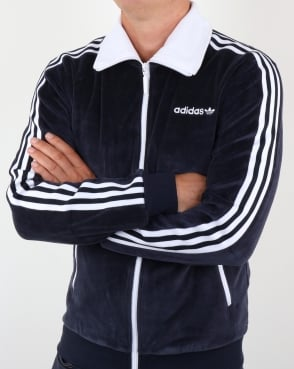 Adidas Originals Beckenbauer Velour Track Top Legend Ink