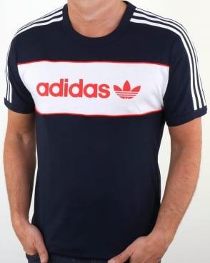 Adidas Originals Block T Shirt Navy