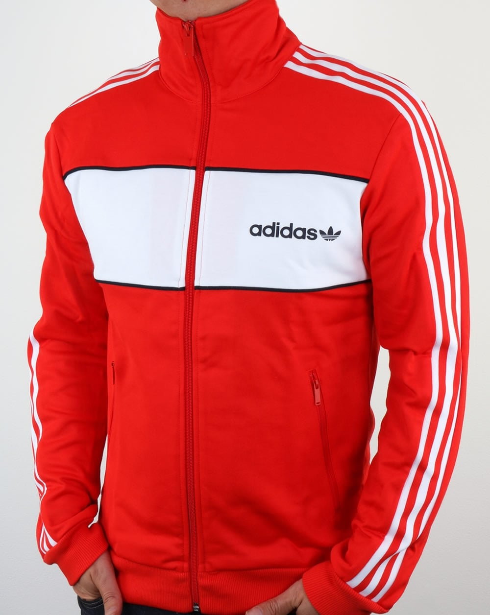 adidas Originals Adidas Originals Block Track Top Core Red 77b89e053