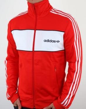 Adidas Originals Block Track Top Core Red