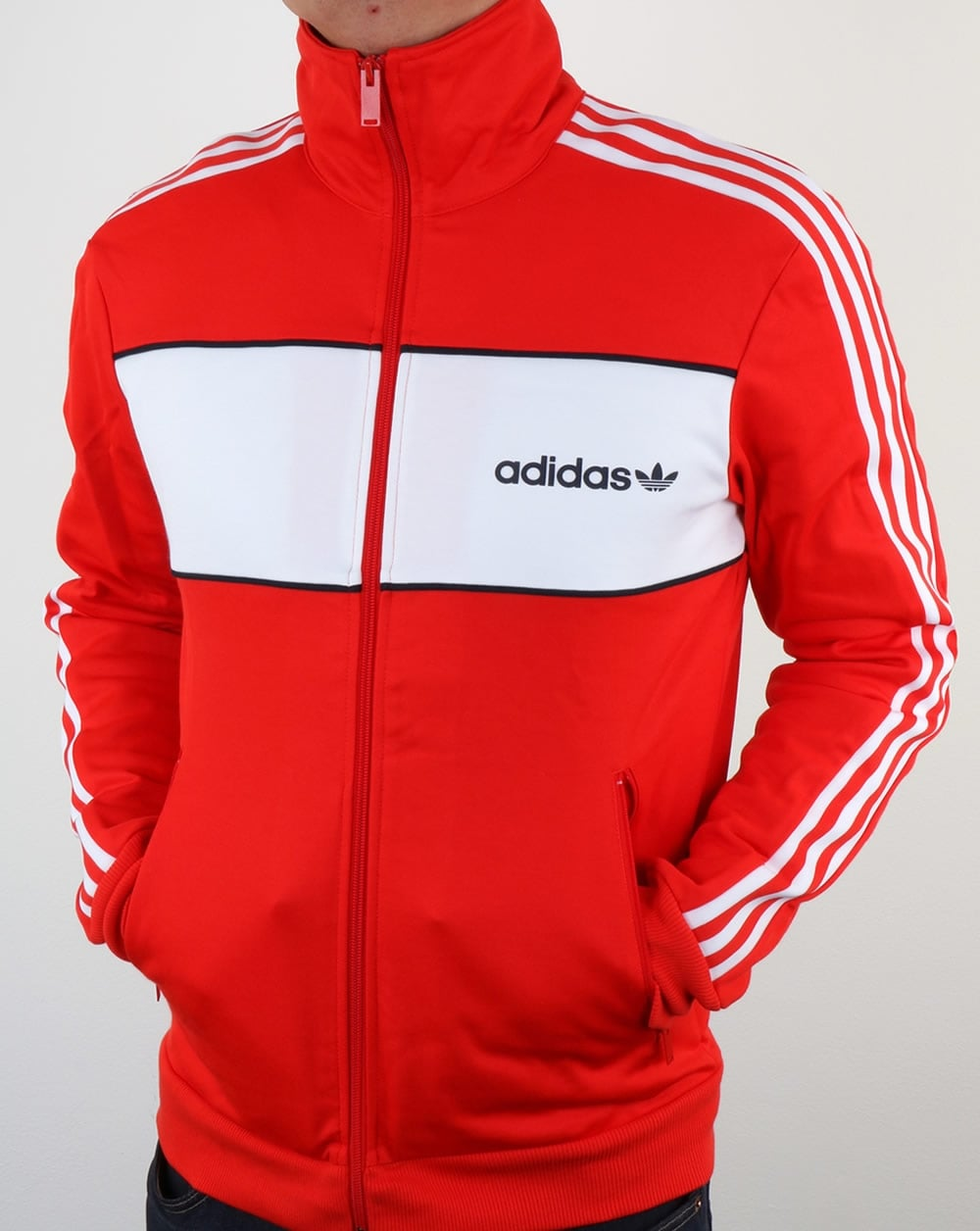 Adidas Originals Block Track Top Core Red,tracksuit,jacket ...