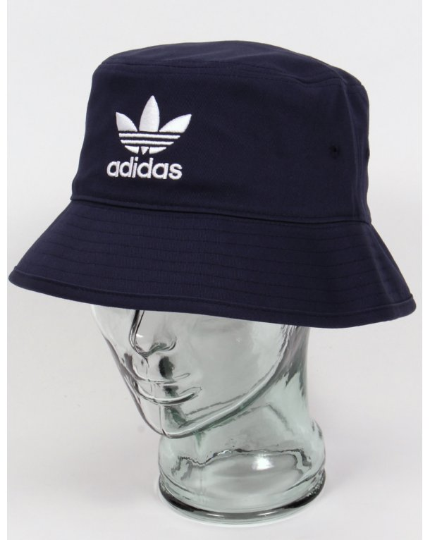 Adidas Originals Bucket Hat With Trefoil Navy