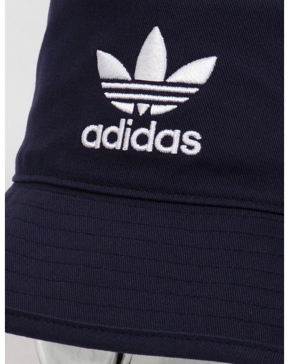 3798a375b7a Adidas Originals Bucket Hat With Trefoil Navy
