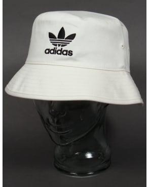 Adidas Originals Bucket Hat With Trefoil White/black