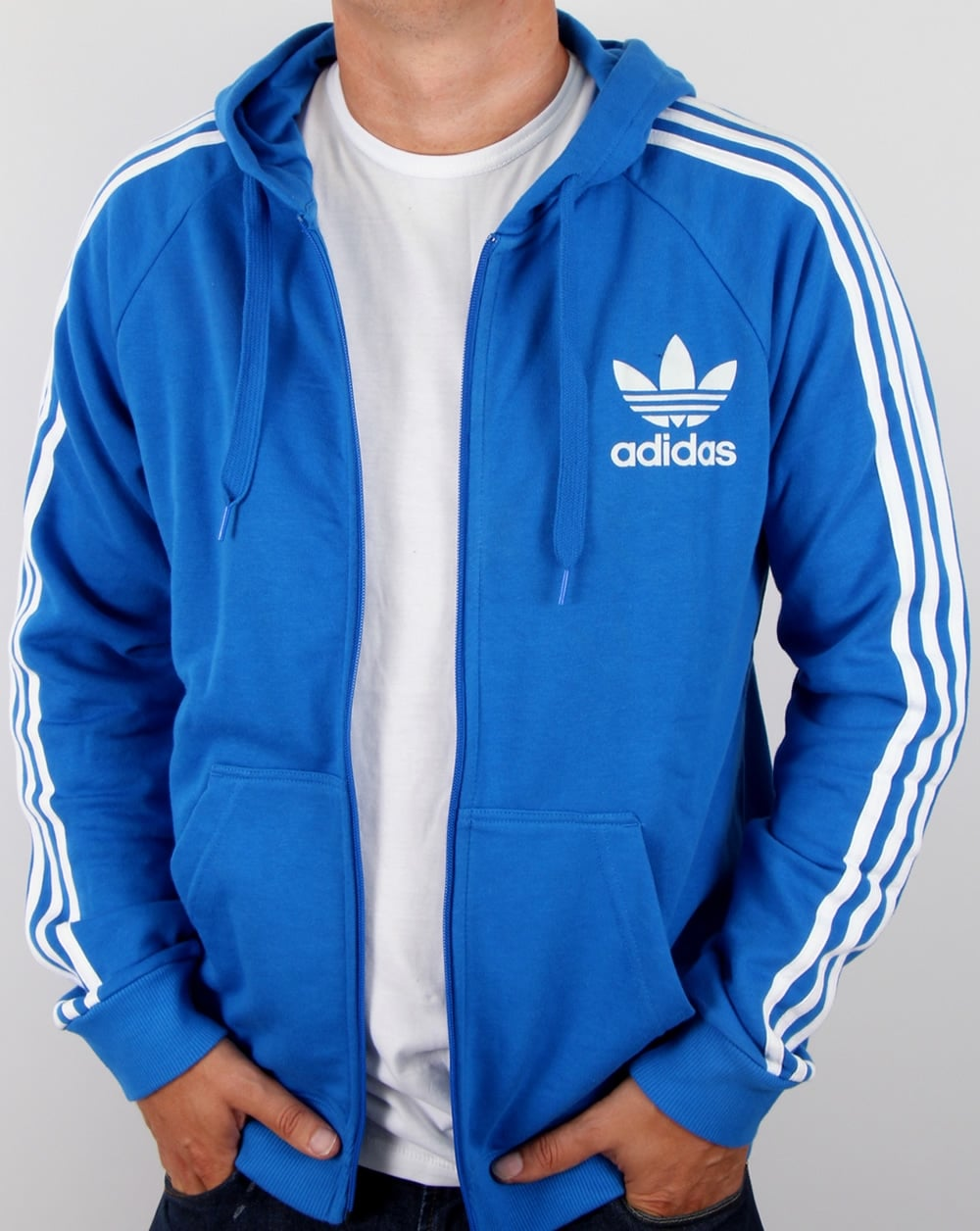 official store first rate new high quality Adidas Originals California Full Zip Hoody Bluebird