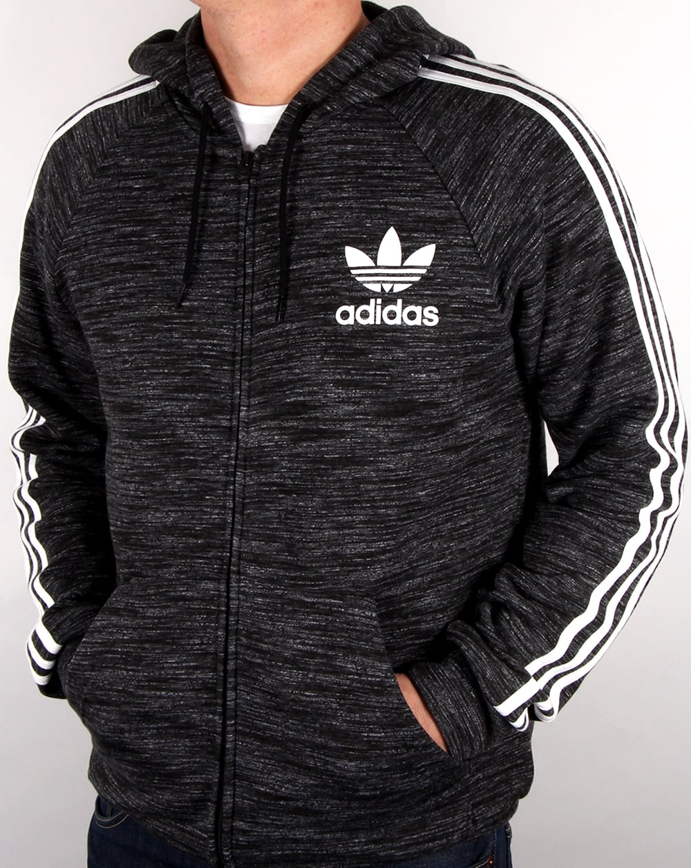 adidas originals california fz hoody black men 39 s top. Black Bedroom Furniture Sets. Home Design Ideas