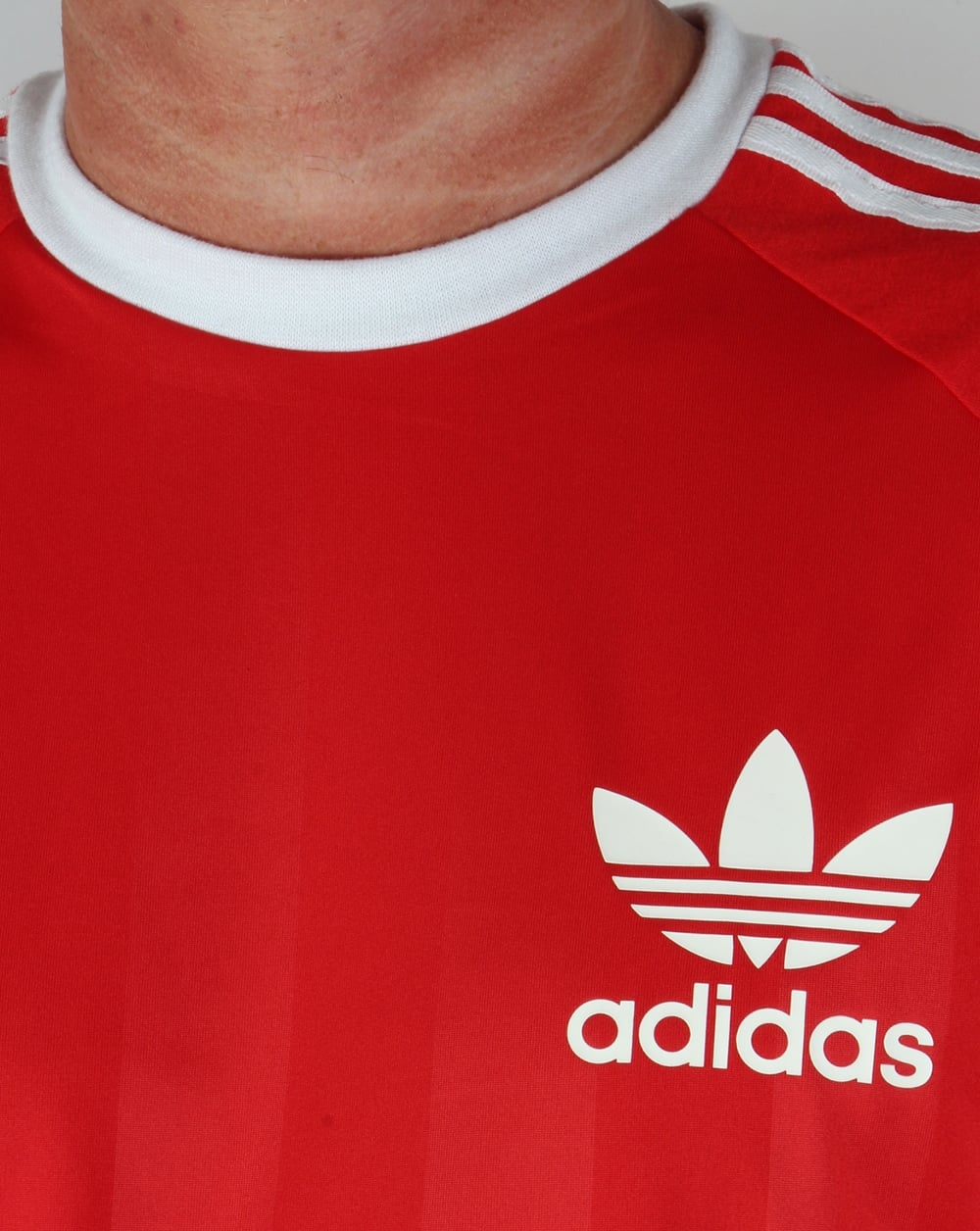 adidas shirt red