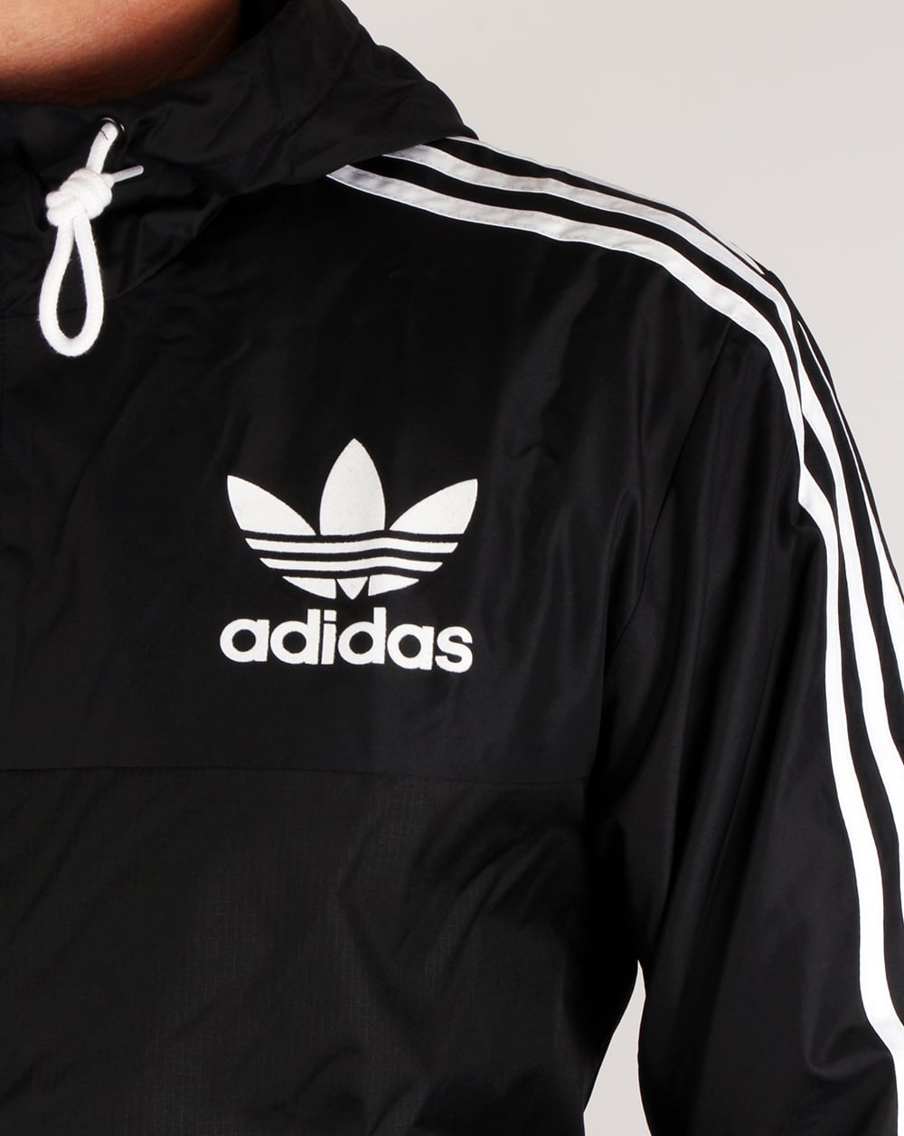Adidas Originals California Windbreaker Black Jacket Coat Mens
