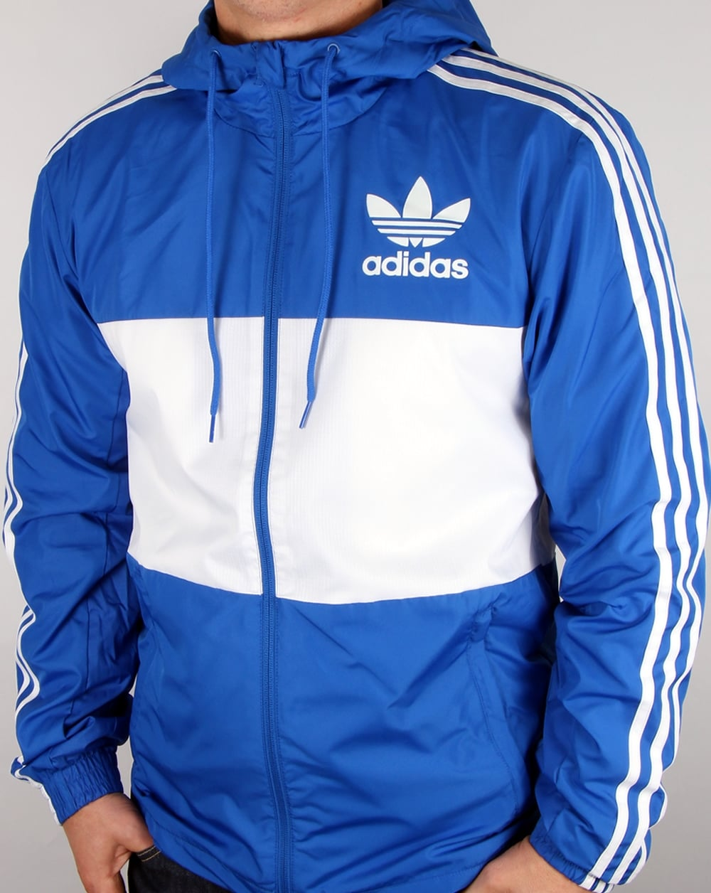 Adidas Originals California Windbreaker Blue/white, Men's, Jacket