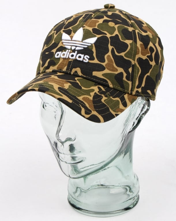 Adidas Originals Camo Baseball Cap Dark Sahara, Mens, Hat