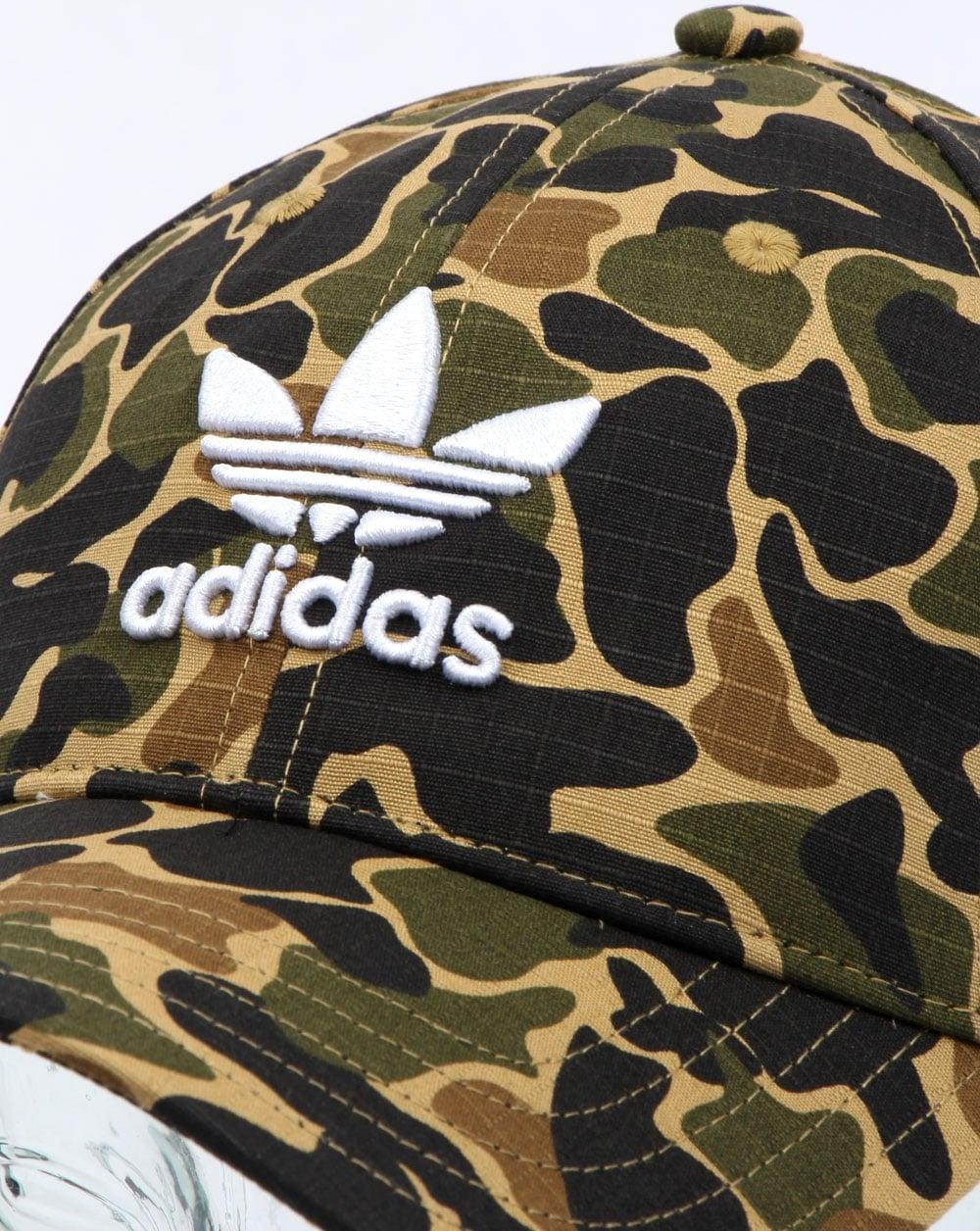e0c065b6478 Adidas Originals Camo Baseball Cap Dark Sahara
