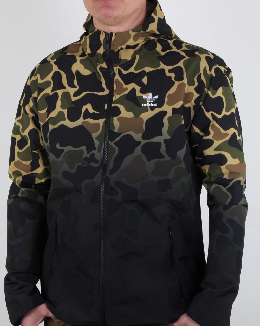 Adidas Originals Camo Windbreaker Mens Jacket Rain Wind