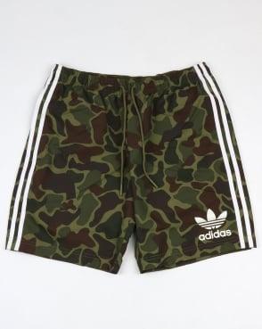 Adidas Originals Camo Shorts Green