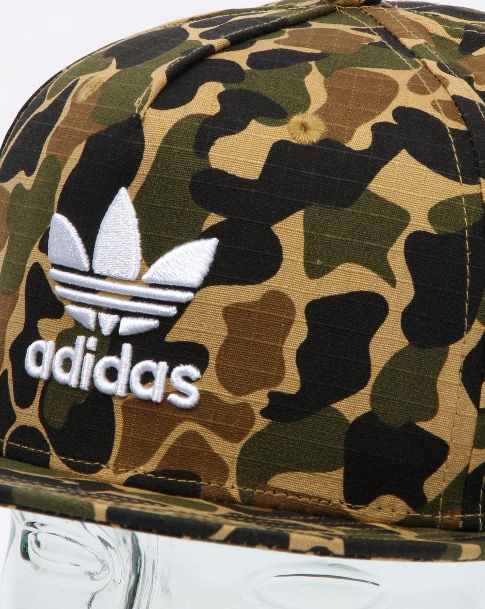 daa6b95098c Adidas Originals Camo Snapback Cap Dark Sahara