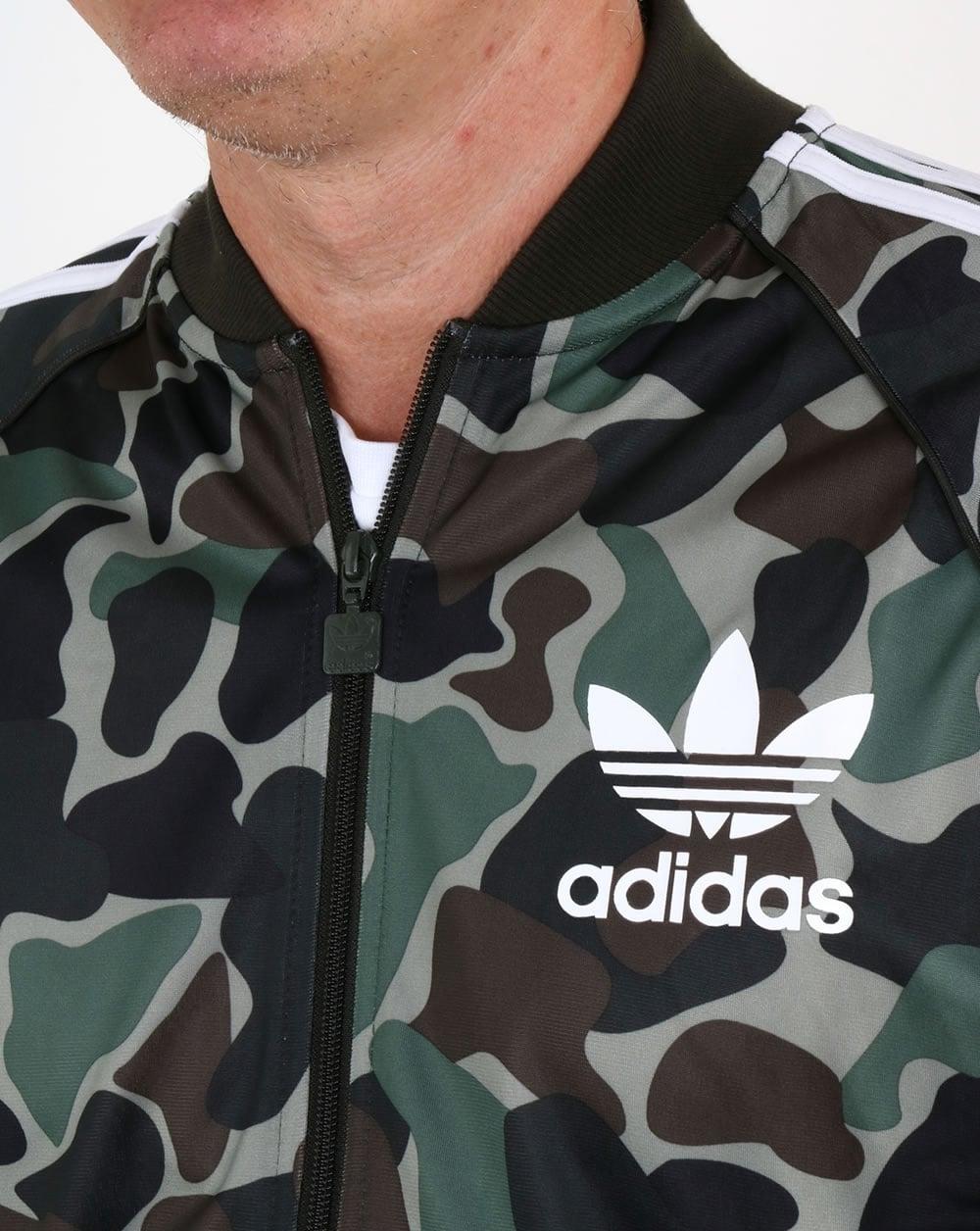 Men Adidas Originals Superstar Track Top Orange Tops