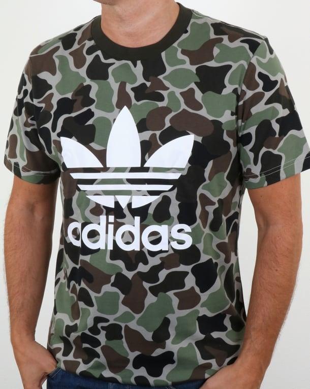 Adidas Originals Camo Trefoil T Shirt Camo