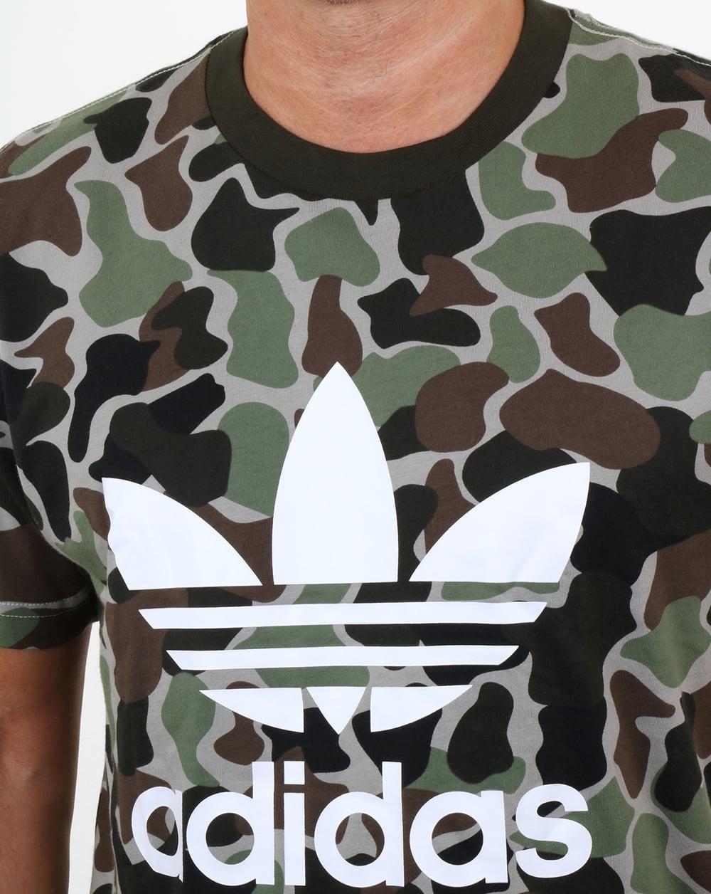 Shirt Camo T Adidas Trefoil Originals EHYD9We2I