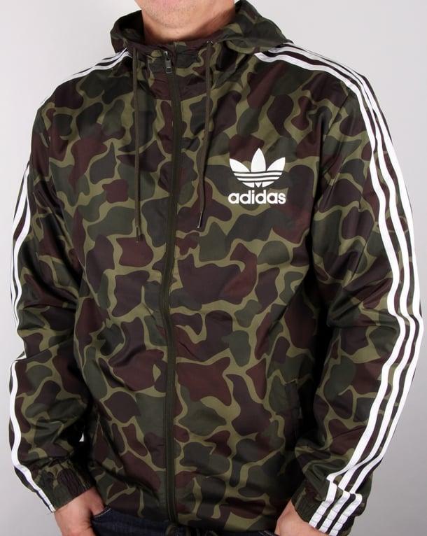 Adidas Originals Camo Windbreaker Camo Men S Jacket