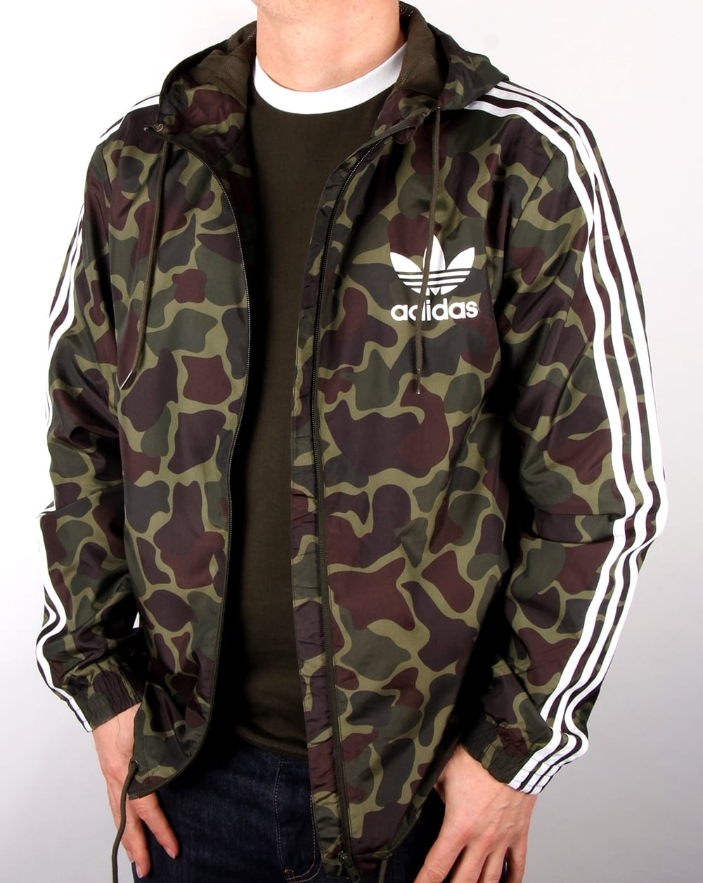adidas originals camo windbreaker camo men 39 s jacket weather proof. Black Bedroom Furniture Sets. Home Design Ideas