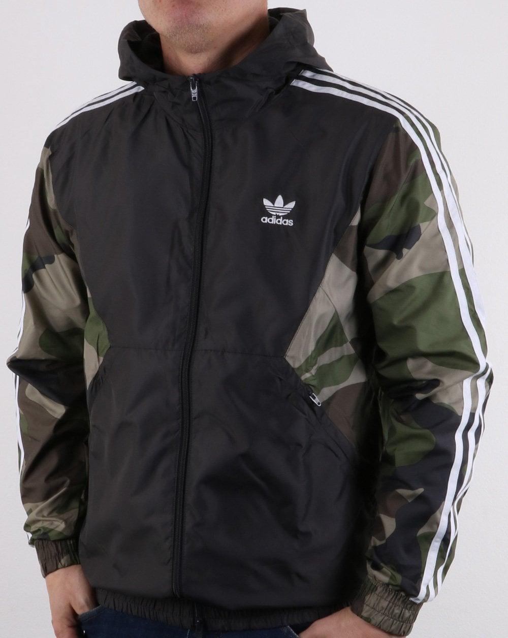 b055df8dd347d Adidas Originals Camo Windbreaker Khaki Green
