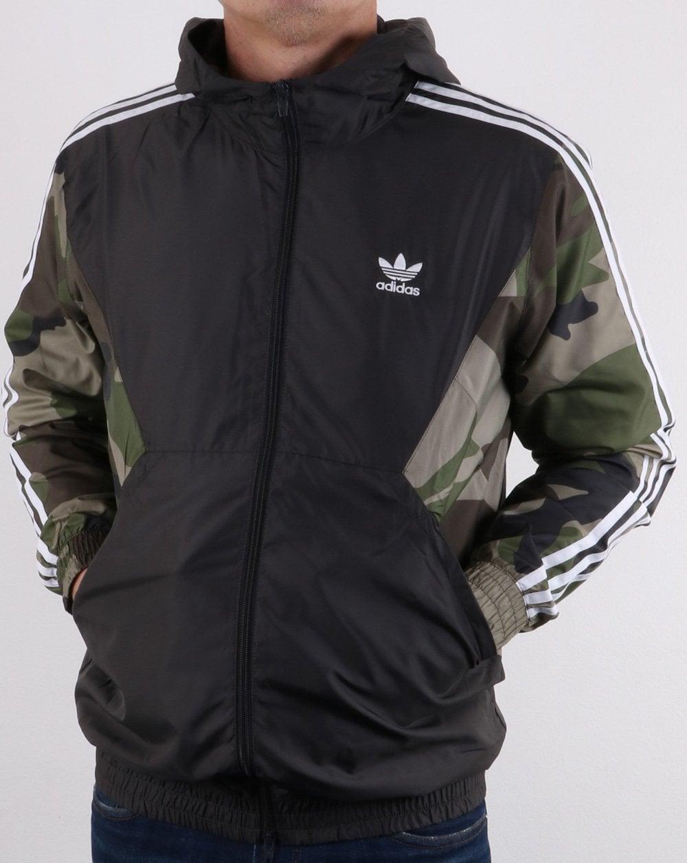 f5313a0fe3 adidas Originals Adidas Originals Camo Windbreaker Khaki Green