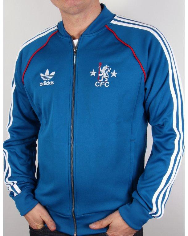 Adidas Originals Chelsea Fc Superstar Track Top Dark Royal Blue