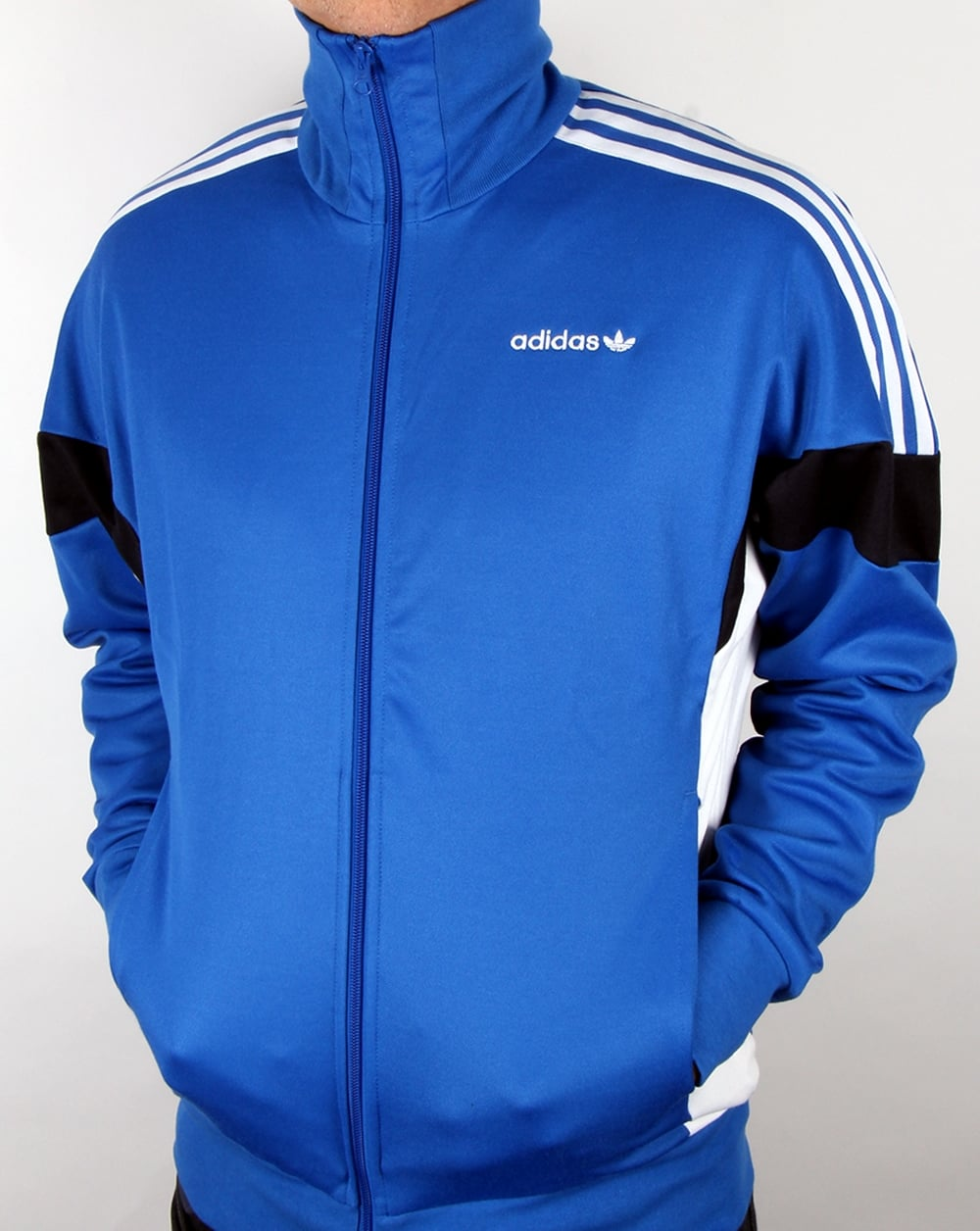 Adidas Top Ten Hi Sleek Bow Zip Trainers: Adidas Originals Clr84 Track Top Blue, Men's, Jacket
