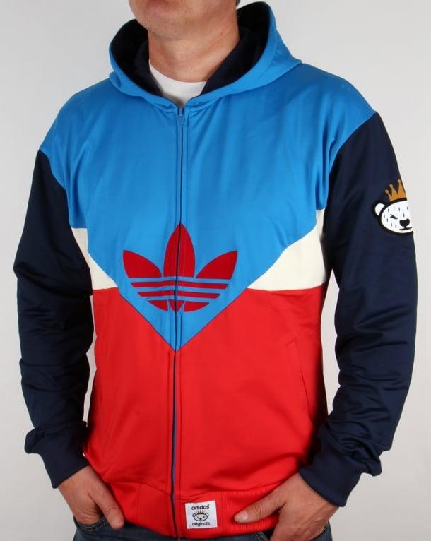 Adidas Originals Colorado Full Zip Hoody Bright Blue