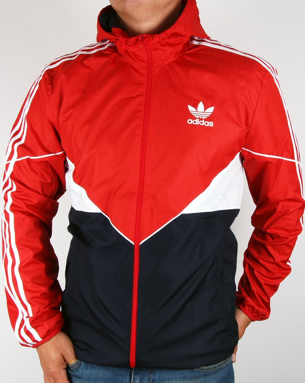adidas originals colorado windbreaker red navy jacket coat. Black Bedroom Furniture Sets. Home Design Ideas