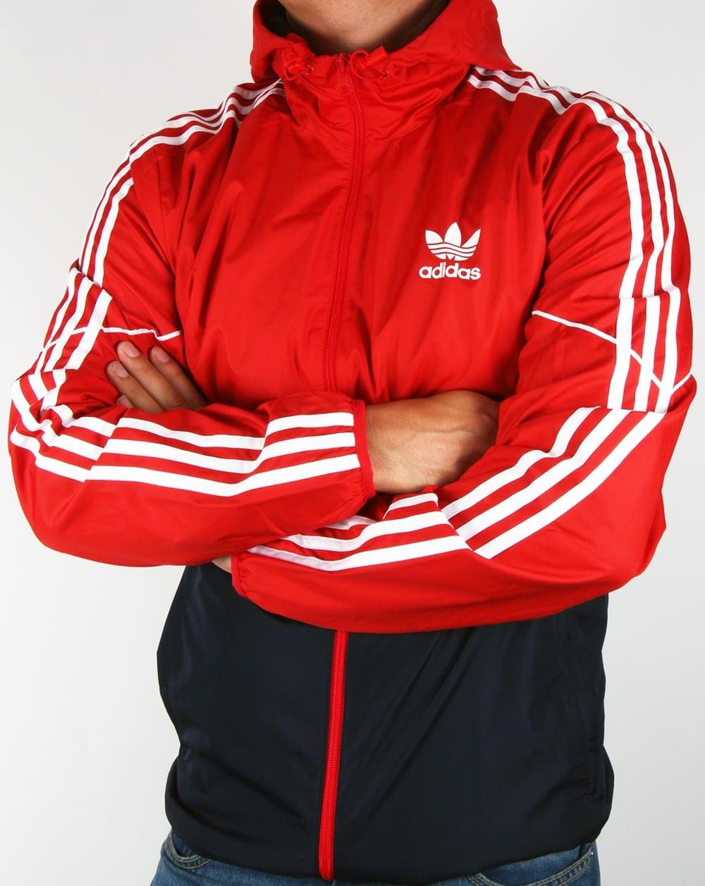 Adidas Originals Colorado Windbreaker Red Navy Jacket Coat Mens