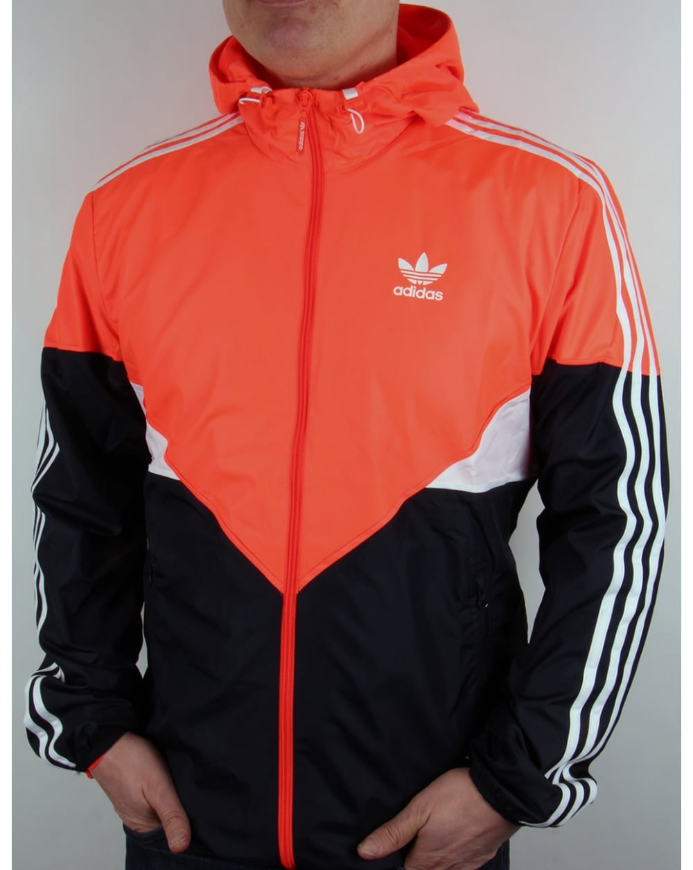 adidas originals colorado windbreaker solar red navy white. Black Bedroom Furniture Sets. Home Design Ideas