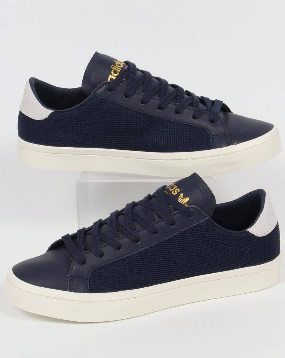 adidas originals court vantage trainers navy shoes low top. Black Bedroom Furniture Sets. Home Design Ideas