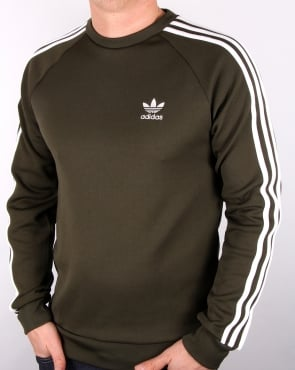 Adidas Originals Crew Neck Sweat Khaki White