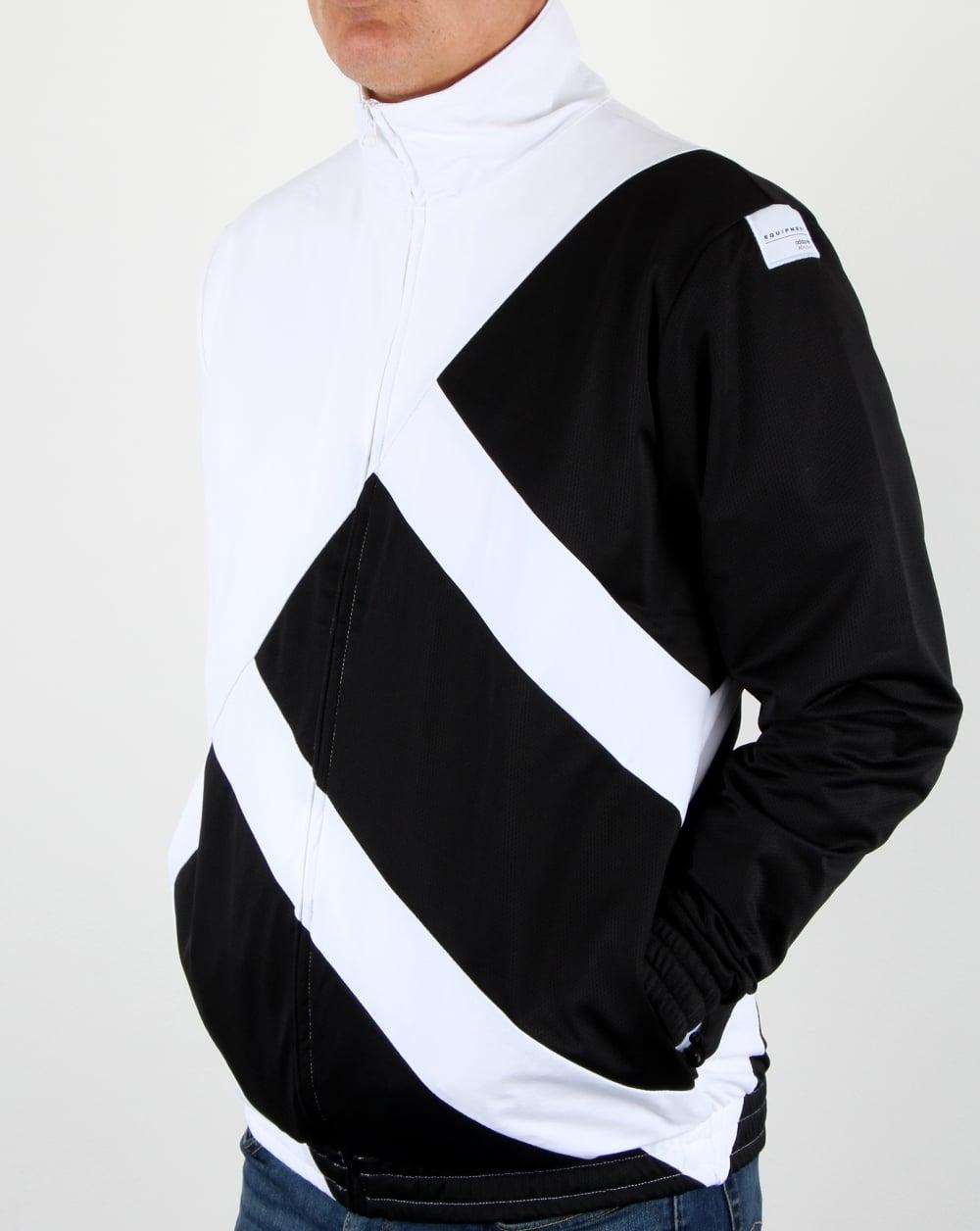 Adidas Originali Eqt Audace Track Top Bianco / Nero, Uomini, Giacca