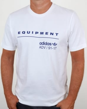 Adidas Originals EQT PDX Classic T Shirt White/Mystery Ink