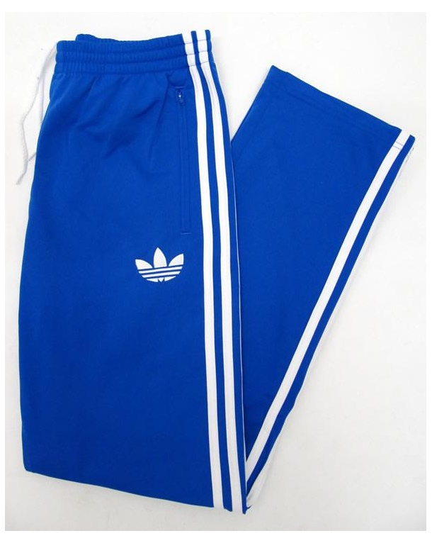 Adidas originali firebird pantaloncini blu / bianco (bottoms) bluebird