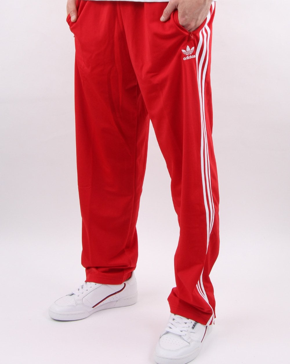 a1a06338 Adidas Firebird Track Pants Scarlet Red - Adidas At 80s Casual Classics