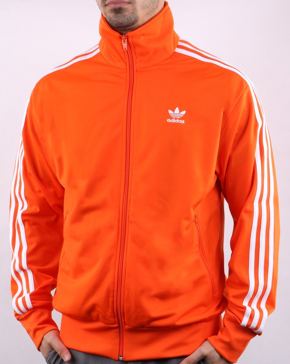 adidas jacke orange blau