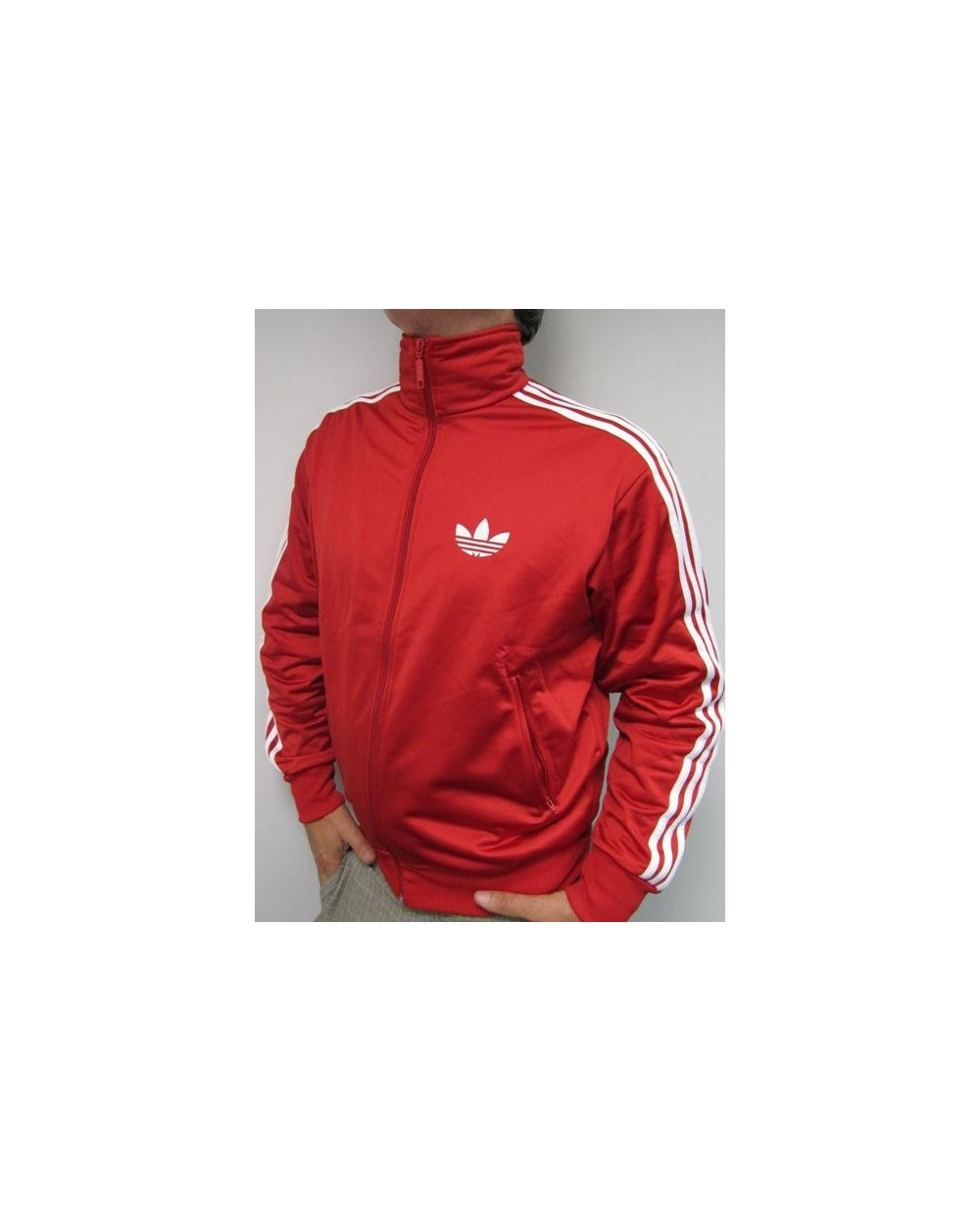 Adidas Originals Firebird Track Top Red Scarlet/white
