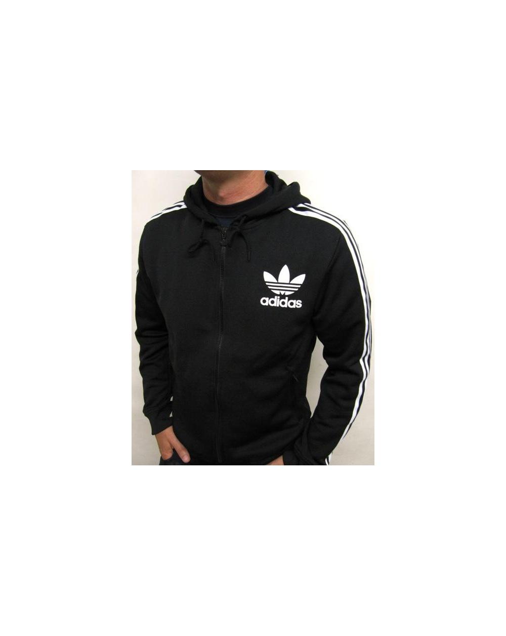 Adidas Originals Flock Hooded Sweatshirt Black, hoody
