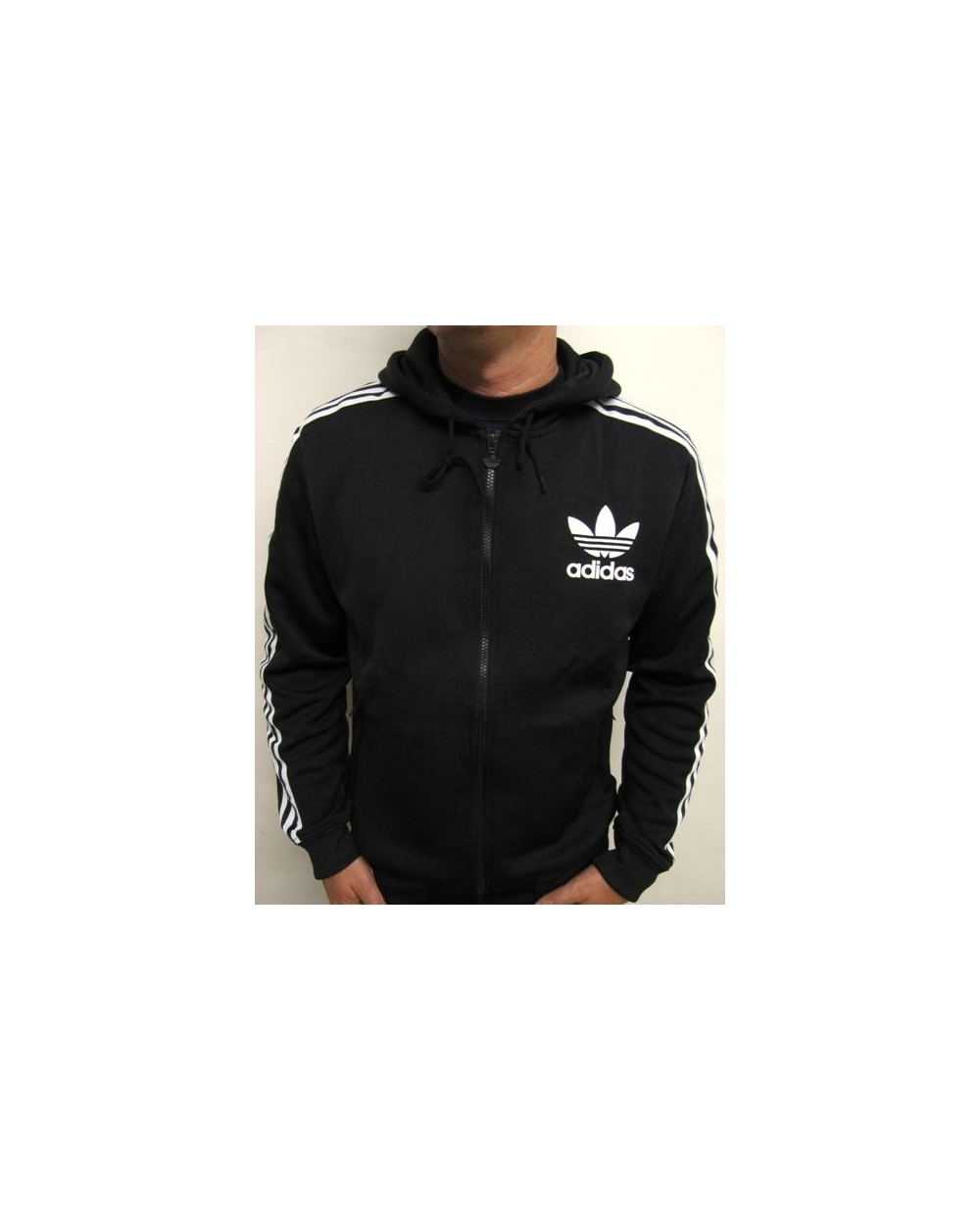 Adidas Originals Flock Zip Hoodie Black