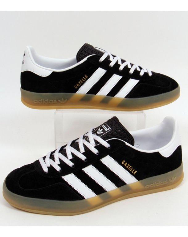 Adidas Originals Gazelle Indoor Black White Gum