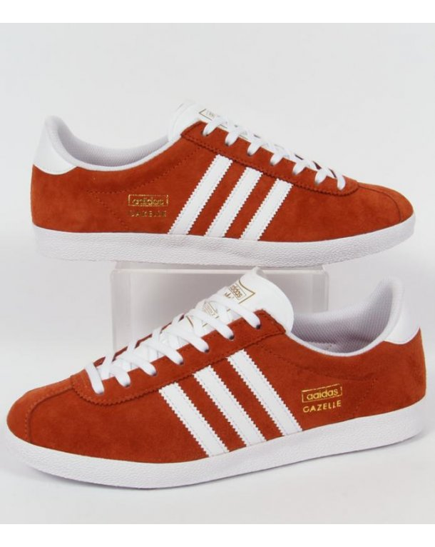 Adidas Originals Gazelle Og Trainers Fox Red/White
