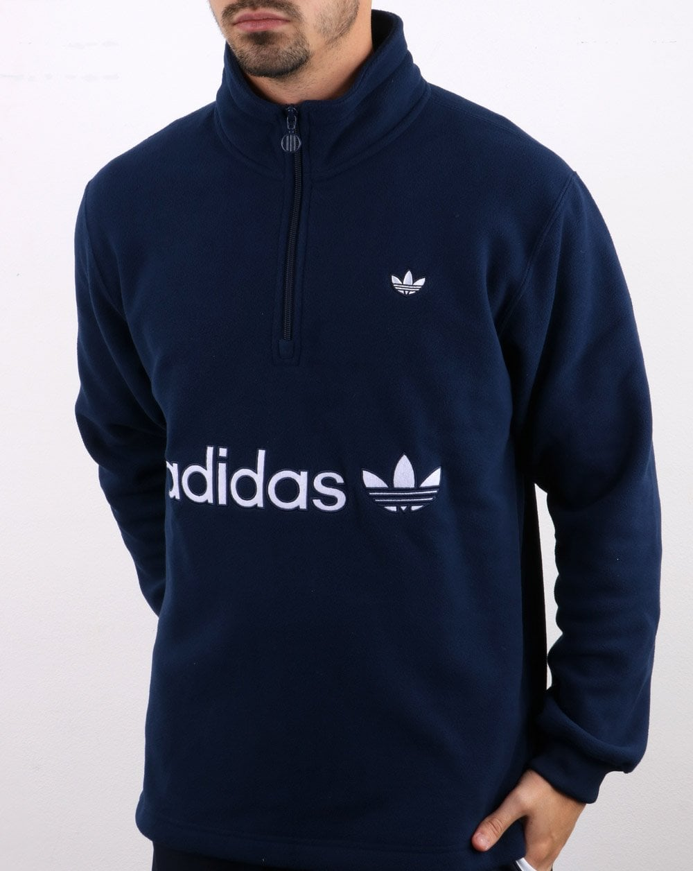 Adidas Originals Half Zip Polarfleece Navy.