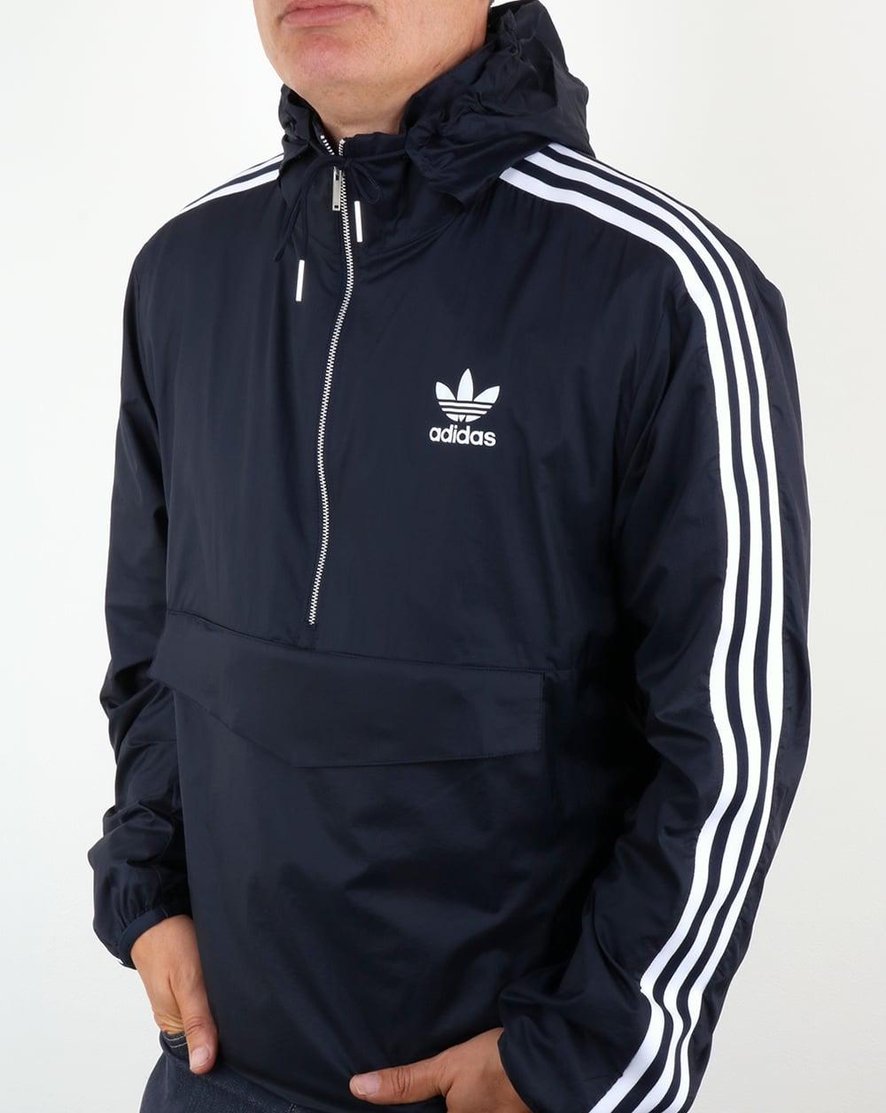 Adidas Originals Mdn Windbreaker Navy Jacket Lightweight Mens