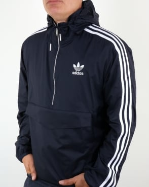 Adidas Originals Half Zip Pouch Pocket Jacket Navy