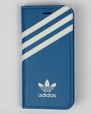 Adidas Originals iPhone 7 Booklet Case Bluebird Blue/White