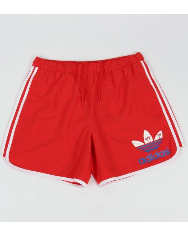 Adidas Originals Island Escape Swim Shorts Red - adidas originals ...